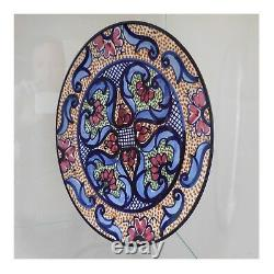 Céramique faïence Espagne plat fait main vintage art nouveau déco PN France N39