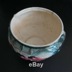 Céramique faïence barbotine tulipe cache-pot récipient vintage art nouveau N5914