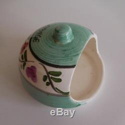 Céramique faïence éponge fait main Design Art Nouveau Déco vintage France N3131