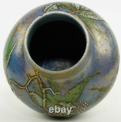 Céramique, vase Clément Massier art nouveau, ceramic vintage, pottery design