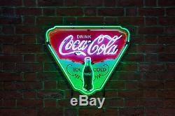 Coca Cola Coke Néon Enseigne Vintage Ice Cold Bouclier Publicité Art Neonetics