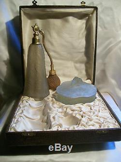 Coffret Flacon De Parfum Boite A Poudre Art Nouveau 1900 Vintage Perfume Bottle
