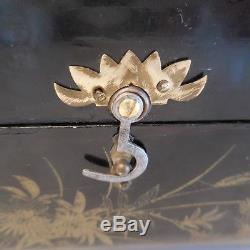 Coffret à bijoux boite à musique fait main vintage XIXe art nouveau Asie