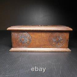 Coffret bijou boite vide-poche bois marine mer vintage art nouveau France N7702