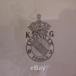 Coupe faïence Saint Clément KG Lunéville 83 France vintage art nouveau N3977