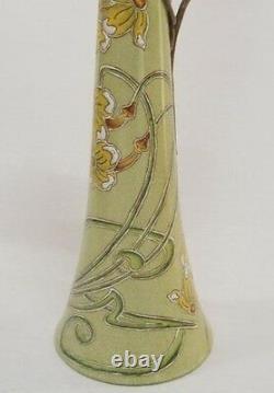 Cruche Vase Carafe Art Nouveau Optique Porcelaine Cadeau Bronze Vintage