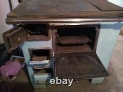 Cuisinière poêle à bois De Dietrich émaillée 30-40's french Vintage woodstove