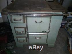 Cuisinière poêle à bois De Dietrich émaillée 40's french Vintage woodstove #CKDB