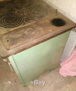 Cuisinière poêle à bois De Dietrich émaillée années 40 french Vintage woodstove