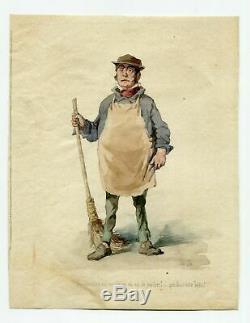 Dessin Vintage Ancien 19ème Siècle Dessin Ancien Illustration Concierge