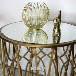Doré Copié Orné Côté Table Art Déco Vintage de Luxe Décor Maison Accent