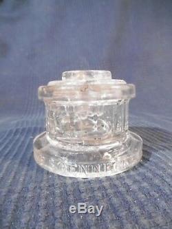 Encrier en verre a systeme f soennecken 1900 art nouveau deco ancien vintage