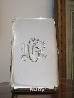 Etui à Cigarettes en Argent Massif 226g Vintage Silver Cigarette Case