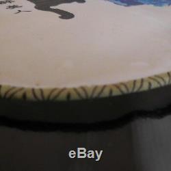 Eventail soie fait main Japon vintage art nouveau déco design XX PN France N3002