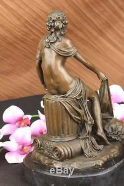Fait à la Main Bronze Buste de Maiden Style Vintage Paris France Fonte Art Déco