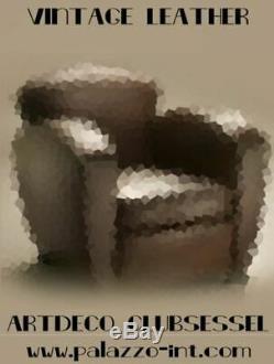 Fauteuil en cuir art déco de club Sofa Lounge New York