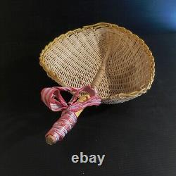 Feuille rotin fait main vide-poche corbeille vintage art déco cuisine N3917