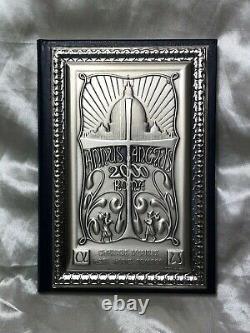 Fin Vintage Poinçonné 925 Italien Argent Religieux Catholique Plaque Livre Dairy