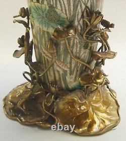 Fleurs Vase Luxe Style Art Nouveau Porcelaine Bronze Vintage Esthétique Noble