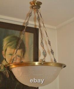 French art nouveau chandelier vintage lamp