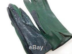 Gants vintage, Art Nouveau, cuir, crocodile