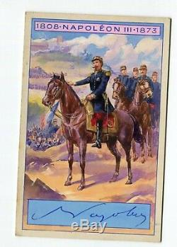 Gouache Vintage Drawing Dessin Napoleon III at the Solferino Battle 1859