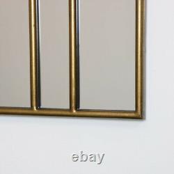 Grand Doré Art Déco Arc Ventilateur Miroir Vintage Mural Décor Glamour de Luxe