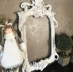 Grand Moule Silicone Cadre Photo Miroir 53cm Feuilles Baroque Vintage Pâte Polym