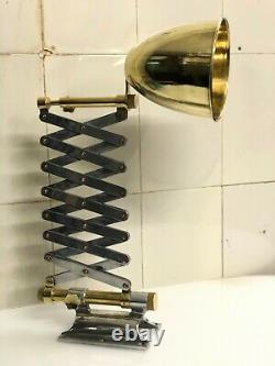 Industrial Modern Vintage Scissor Desk Lamp Wall Swing Arm Stretchable Light