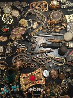 Job Rare Big Lot Bijoux Ancien Vintage French Antique Montre Jewellery