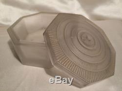 Julien Viard Boite A Poudre Coquillage Vintage Powder Box Glass Art Nouveau