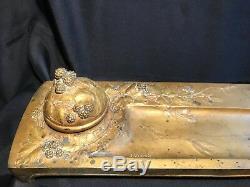 Julien Viard Encrier En Bronze Art Nouveau Vintage Ink Set Perfume Bottle Design