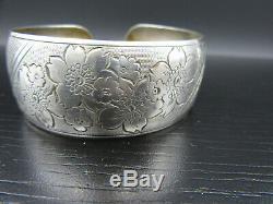 K39 Vintage Art Déco Scheid Nouveau Bracelet D'or 835 Argent