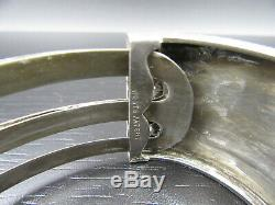 K42 Vintage Anglais W. W Art Déco Nouveau Bracelet D'or Argent