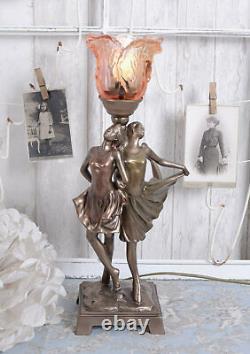 Lampe Art Déco Danseuse Lampe de Table Vintage Lampe de Chevet