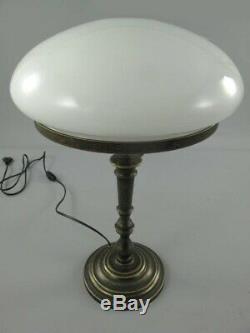 Lampe Champignon Laiton Brün. Abat-Jour 215.050-30 H. 50cm Art Nouveau Vintage