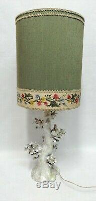 Lampe en Céramique Maiolica Années 50 Design Clara Istler Art Nouveau Vintage