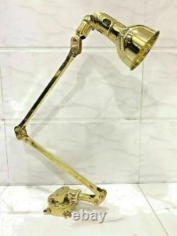 Long Arm Vintage Modern One Light Wall Swinger Arm Brass Stretchable Lamp