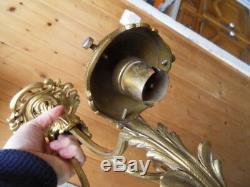Lustre suspension lampe lamp bronze vintage de style art nouveau