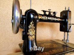 Machine coudre SCUDAN New National Paris sewing machine vintage 1890 Art Nouveau
