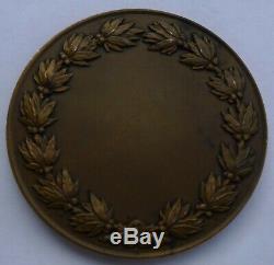 Medaille Bronze Aviation Dammann 1920 Femme Nue Vintage French Art Nouveau Medal