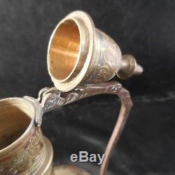 Mini théière orient cuivre laiton fait main vintage art nouveau PN France N3072