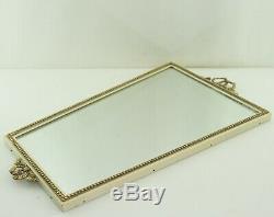 Miroir Miroir dans Art Nouveau Cadre en Métal Laiton Noeud Miroir Vintage