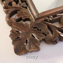 Miroir bois verre ébénisterie vintage art nouveau fait main déco PN France N2271