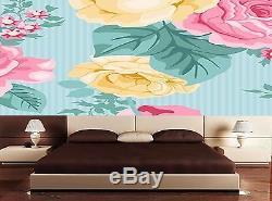 Mural Tableaux Vector sans Couture Vintage Floral Patt Décoration Art Imprimé