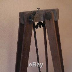 N2000 pied photographe bois métal vintage XIXe art nouveau fait main PN France