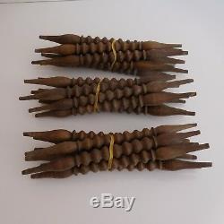 N2749 24 barreaux moulures tourillons bois vintage XIXe art déco PN France