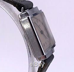 NOS Universel Geneve Cal. 220 Fonctionnel Vintage Art Déco Montre 17,5 mm 3WC
