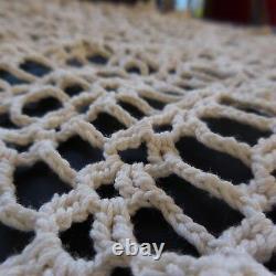 Napperon coton fait main au crochet vintage art nouveau Lorraine France