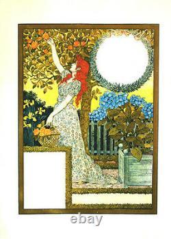 Original Vintage Affiche Grasset Lithographie Main Signée Style Art Nouveau